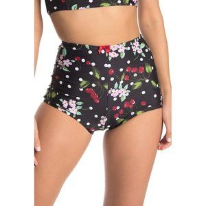 Betsey Johnson Cherry Bomb high waisted bikini